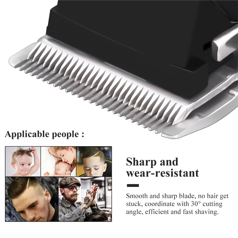 Professional Barber Hair Clipper Rechargeable Electric T-Outliner Finish Cutting Machine Beard Trimmer Shaver Cordless Corded 4