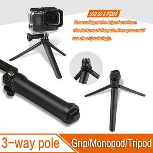 Image 3 - ل GoPro Monopod للطي 3 طريقة Monopod جبل كاميرا قبضة تمديد الذراع ترايبود حامل ل Gopro بطل 9 8 7 6 5 4 3 3 SJ4000