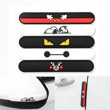 4Pcs Cartoon Car Door Protector Auto Edge Corner Guard Protective Bumper Sticker Vehicle Door Protector Accessory