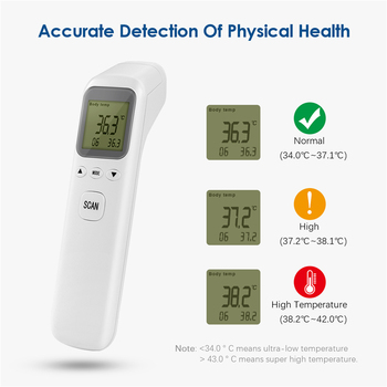 Baby Thermometer Infrared Digital LCD Body Measurement Forehead Ear Non-Contact Adult Body Fever IR Children Head Termometro