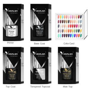 Image 5 - #61508 Venalisa VIP SET KIT 60 Colors Color Gel A Set Base/Top Gel Professional Nail Art Gel Beatiful Long lasting Gel Polish
