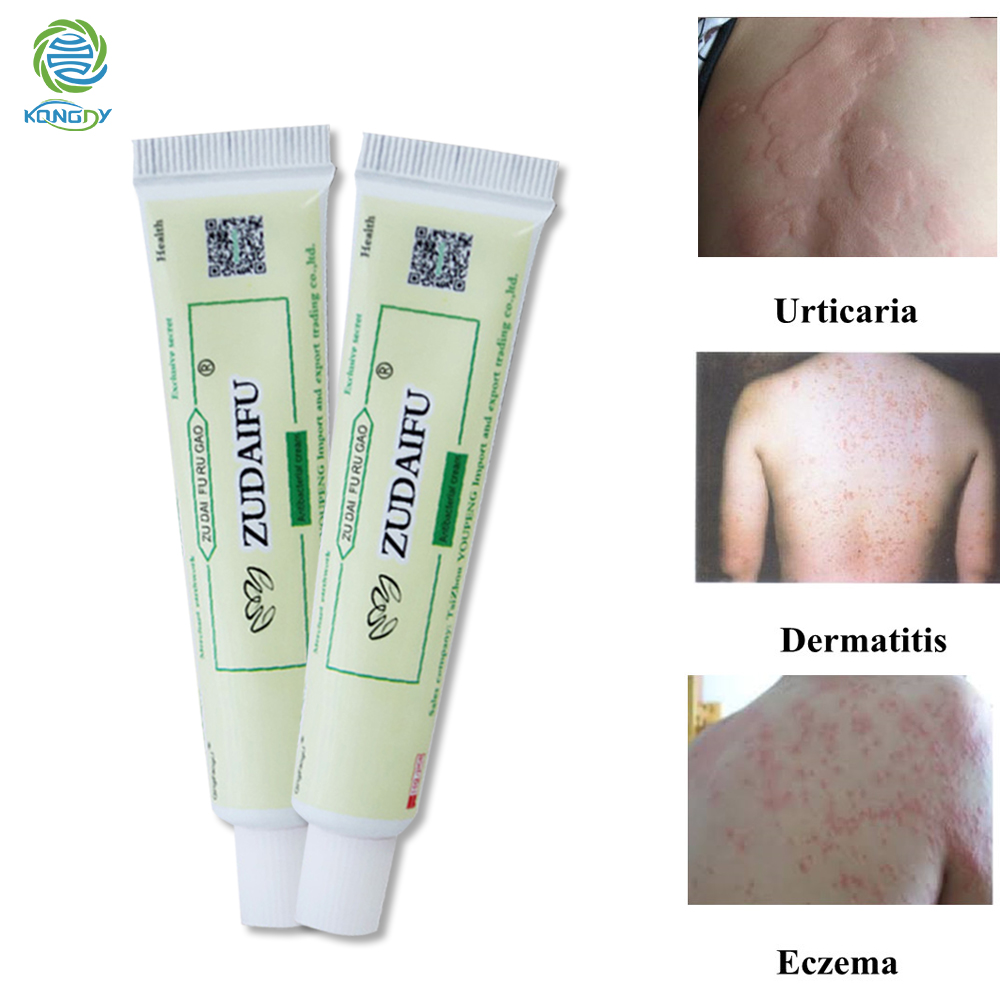 ZUDAIFU 2Pcs Psoriasis Cream Relieve Psoriasis Ointment Dermatitis Eczema Pruritus Skin Disease Treatment Chinese Herbal Cream image