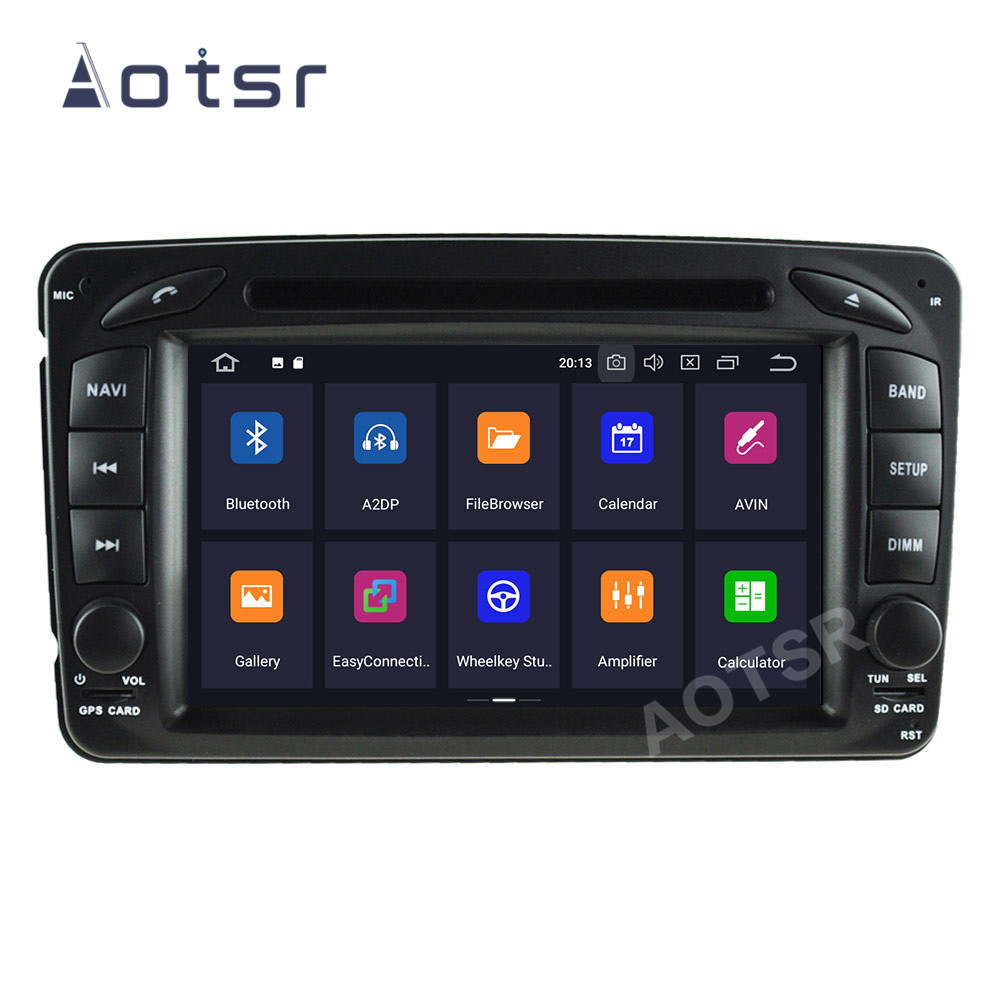 AOTSR 2 Din Car Radio Coche <font><b>Android</b></font> 10 For Mercedes Benz Vaneo Viano Vito C-<font><b>W203</b></font> CLK-C209 W209 G-W463 2Din Multimedia Player image