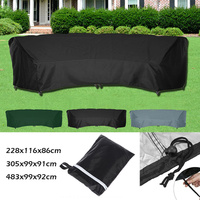 210D Outdoor Patio Waterproof Cover Furniture Sofa Curved Dustproof Slipcovers Garden Couch Cover All Weather Protection