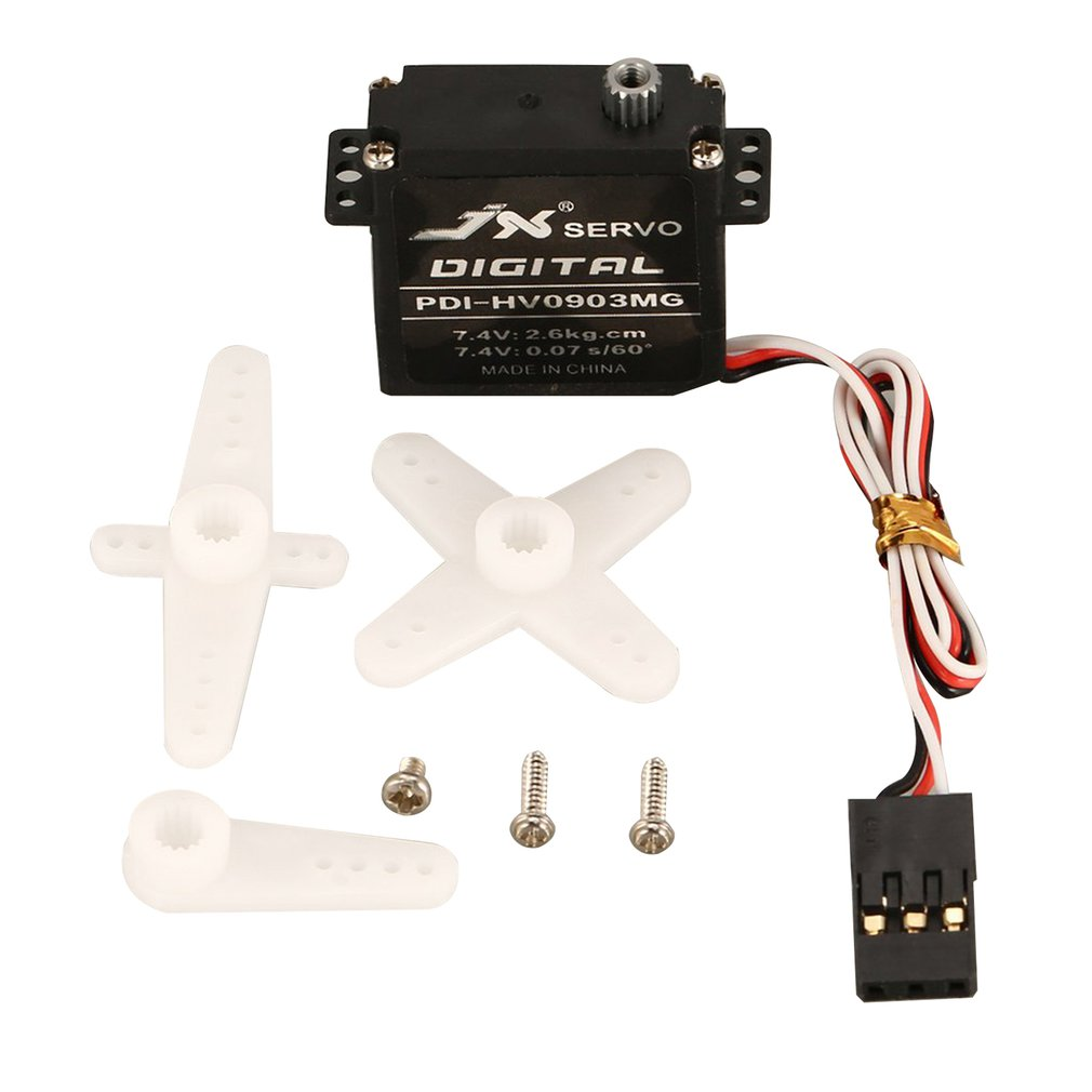RC Drone JX PDI-HV0903MG Mini Steering Torque Digital Metal Gear Core Servo For RC Fixed Wing Airplane Plane Drone