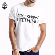 QIM Game of Thrones You Know Nothing Jon Snow Print Casual Summer Top Tees For Men Fashion T-shirt