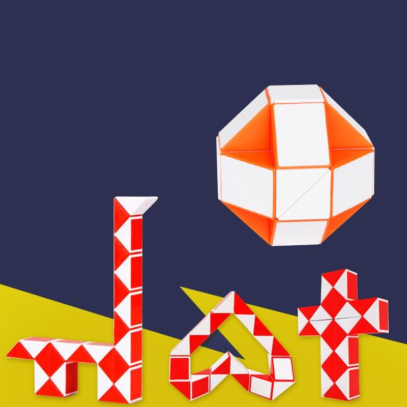 Snake Twist AntistressCubeFolding Deformation Ruler Magic TransformableKidsPuzzle EducationalToy Fidge Autism Toy Children