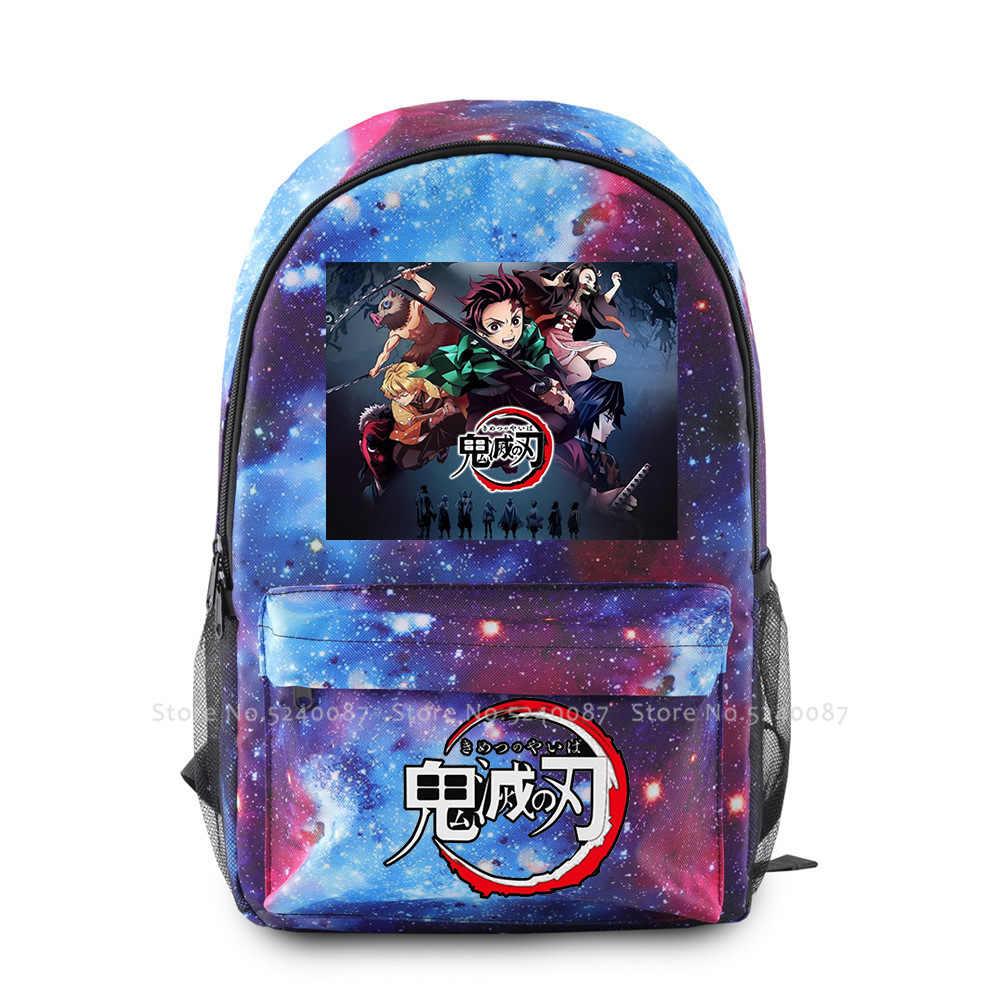 Anime mochila demônio slayer kimetsu não yaiba mochila cosplay trajes kamado tanjirou nezuko agatsuma zenitsu saco de escola adereços
