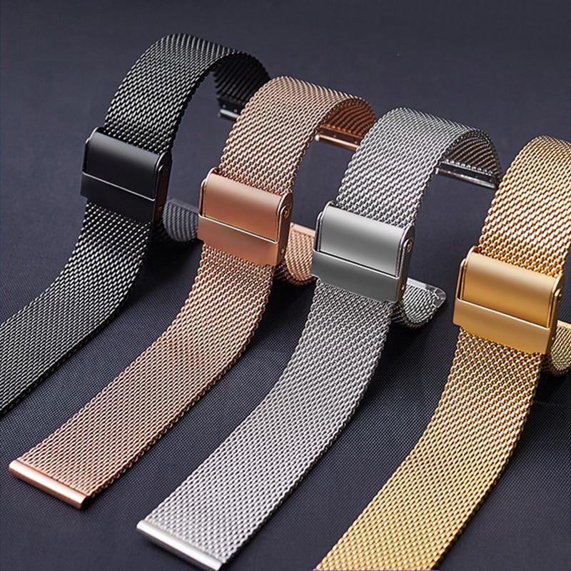Для часов DW, стальной ремешок, сетчатый ремешок для часов Daniel Wellington, металлический ультра-тонкий универсальный браслет из нержавеющей стали...
