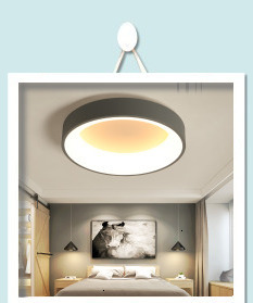 Hac1e7f1ff8e9493c807ad29e4e1bca39V Surface mounted modern led ceiling lights for living room Bed room light White/Brown plafondlamp home lighting led Ceiling Lamp