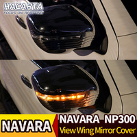View Wing Mirror Cover LED For NAVARA NP300 D23 2015 2016 2018 ABS car styling auto parts accessories