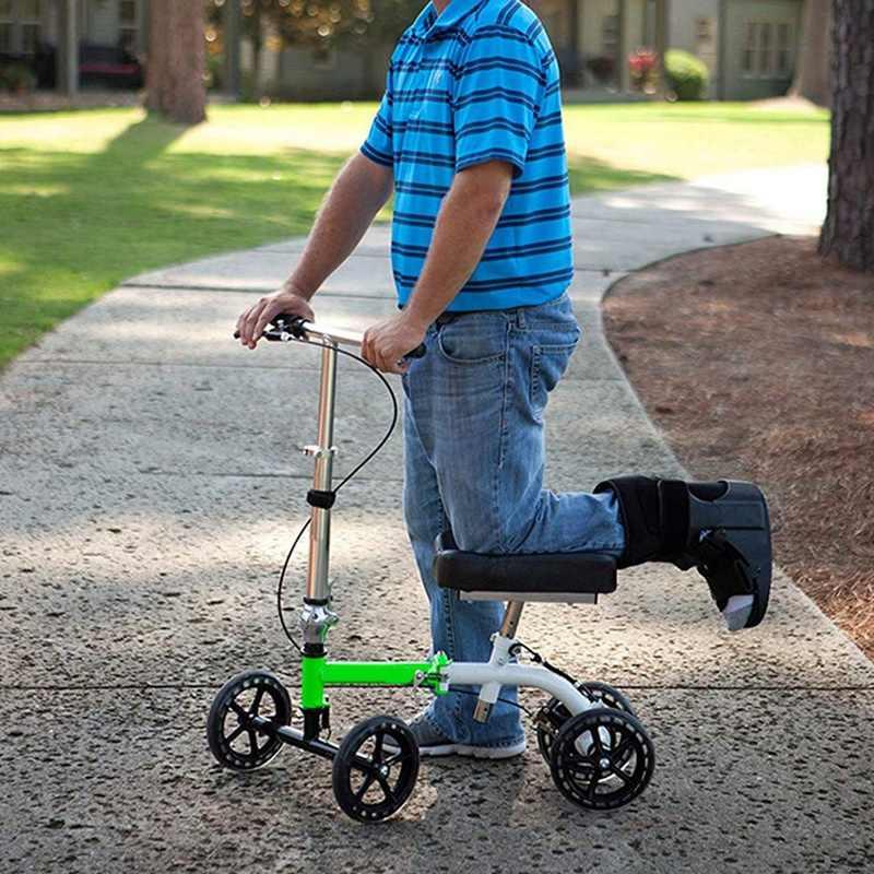 Joelho Universal Scooter Tampa Do Joelho Gráfico Pad Almofada de Espuma de Memória para o Joelho Walker