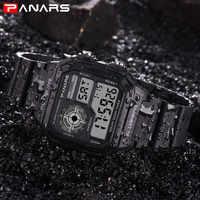 PANARS reloj digital militar retro para hombre, resistente al agua, luminoso, reloj deportivo hombre, elegante erkek kol saati freeship CN
