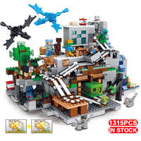 LED Compatible Legoinglys arbre maison Minecrafted Aminals chiffres mécanisme montagne grotte mon monde playmobil blocs de construction jouets