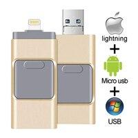 Unidad Flash USB para iPhone, iPad y PC, Pendrive OTG USB 3,0, 16GB, 32GB, 64GB, lápiz de memoria de 128GB