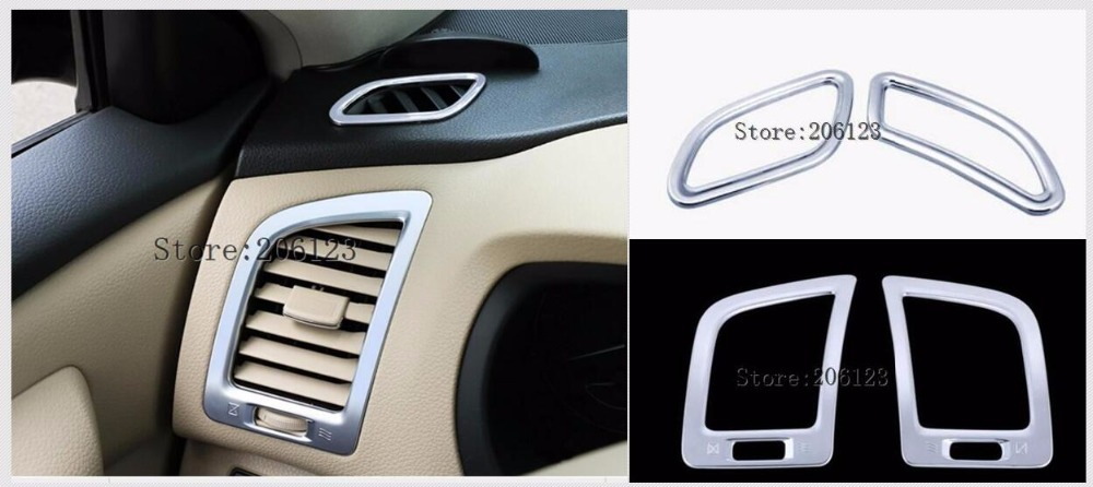 ABS Interior Front Upper Air Vent Trim For Nissan Teana Altima 2013-2017 2pcs
