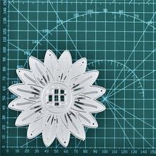 Naifumodo Sunflower Metal Cutting Dies Flower for Scrapbooking Embossing Die Cut Stencils Craft New 2019 Card Making