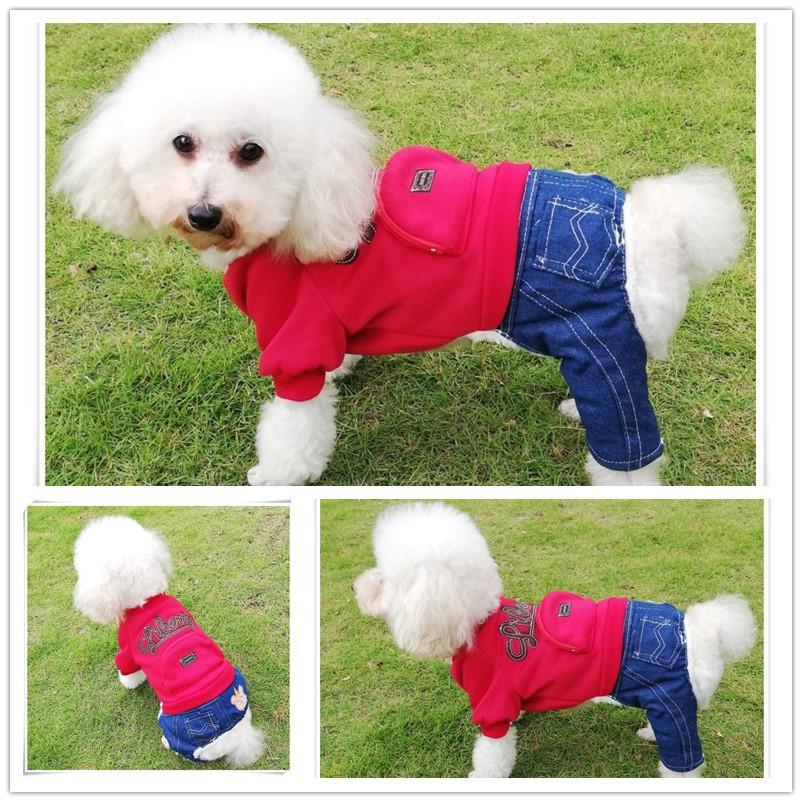 Одежда для собак джинсовая прошитая одежда домашних животных