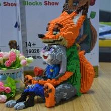 Balody Mini Blocks Cartoon Building Toy Cute Judy Rabbit Nick Fox Model Bricks Children DIY Educational Assembly
