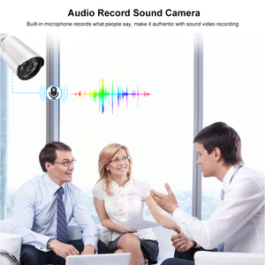 Image 3 - AZISHN H.265+ 5MP/3MP/2MP IP Camera ONVIF Audio 6IR Night Vision Metal IP67 Outdoor DC/POE CCTV Security Video Surveillance Cam