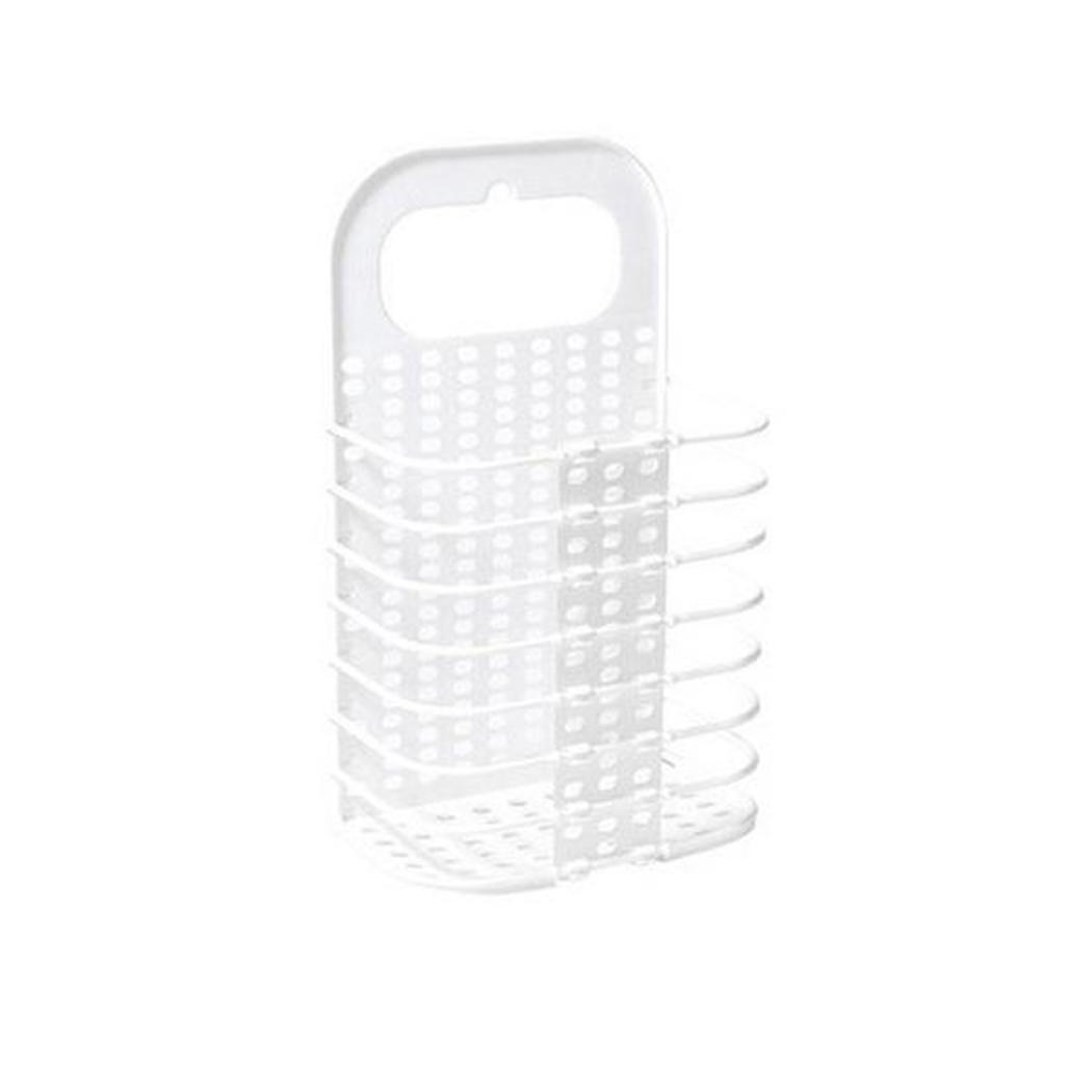 Household Collapsible Storage Basket Bathroom Clothes Wall-mounted Gray, White Home Hamper