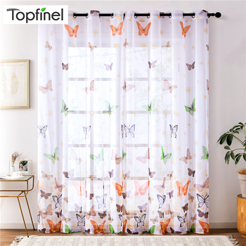 Butterfly Sheer Curtains 1