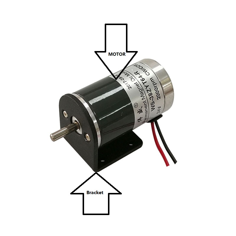 38ZYT64-R 38mm miniature speed control motor / small generator / CW, CCW motor / 12V / 24V high speed DC motor