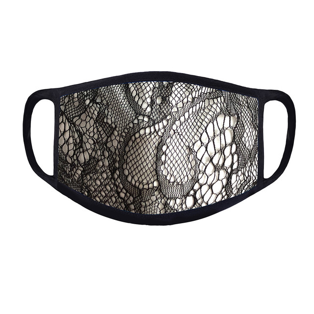 4PC Women Dust Sand Sunscreen Applique Face Cycling Breathable Mask Cotton Dustproof Anime Cartoon Kpop madque lavable#w 1