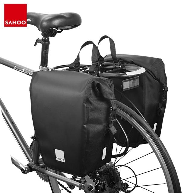 2 stücke Sahoo 10L/20L Mountain Road Bike Wasserdichte Fahrrad Pannier Tasche Radfahren Zurück Rear Seat Trunk Bag Rack pack Schulter Tasche