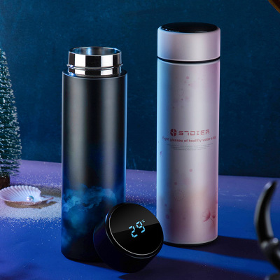 450ml Smart Temperature Display Stainless Steel Thermos Vacuum Flask  Mug Coffee Travel Sport Portable Water Bottle Thermos Cup