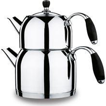 Korkmaz A 118 Flora Midi Çaydanlık Takımı Siyah Kulplu Mutfak Ev Gereçleri