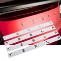 Замена логотипа задней части БАГАЖНИКА АВТОМОБИЛЯ, наклейка с буквами для Tesla Model 3, модель X, модель S, Y, замена английского алфавита, наклейка...