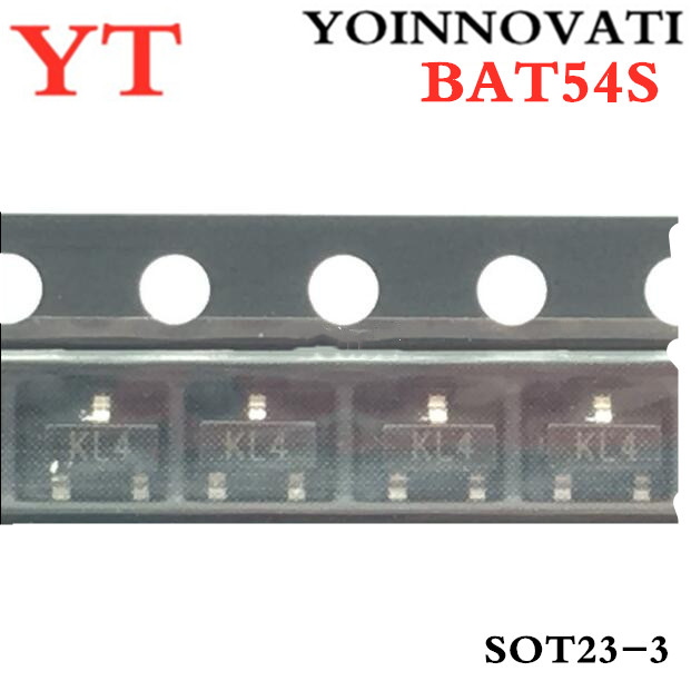 BAT54S DIODE SCHOTTKY 30V 200MA SOT23 LOT OF 2