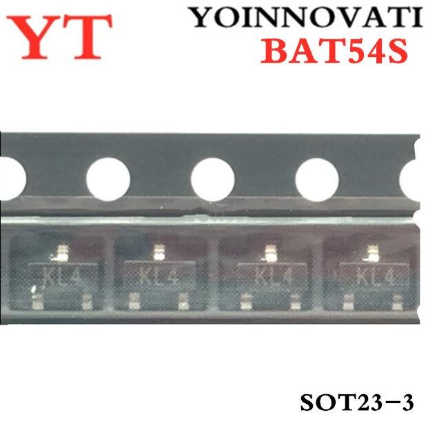 100pcs/lot  BAT54S BAT54 KL4 SOT23 IC Best Quality.
