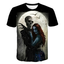 2021 Summer Fashion Hot Sale Latest Skull T-shirt Fashion 3D Horror Boys and Girls Funny Hip-Hop Male Costumes Halloween