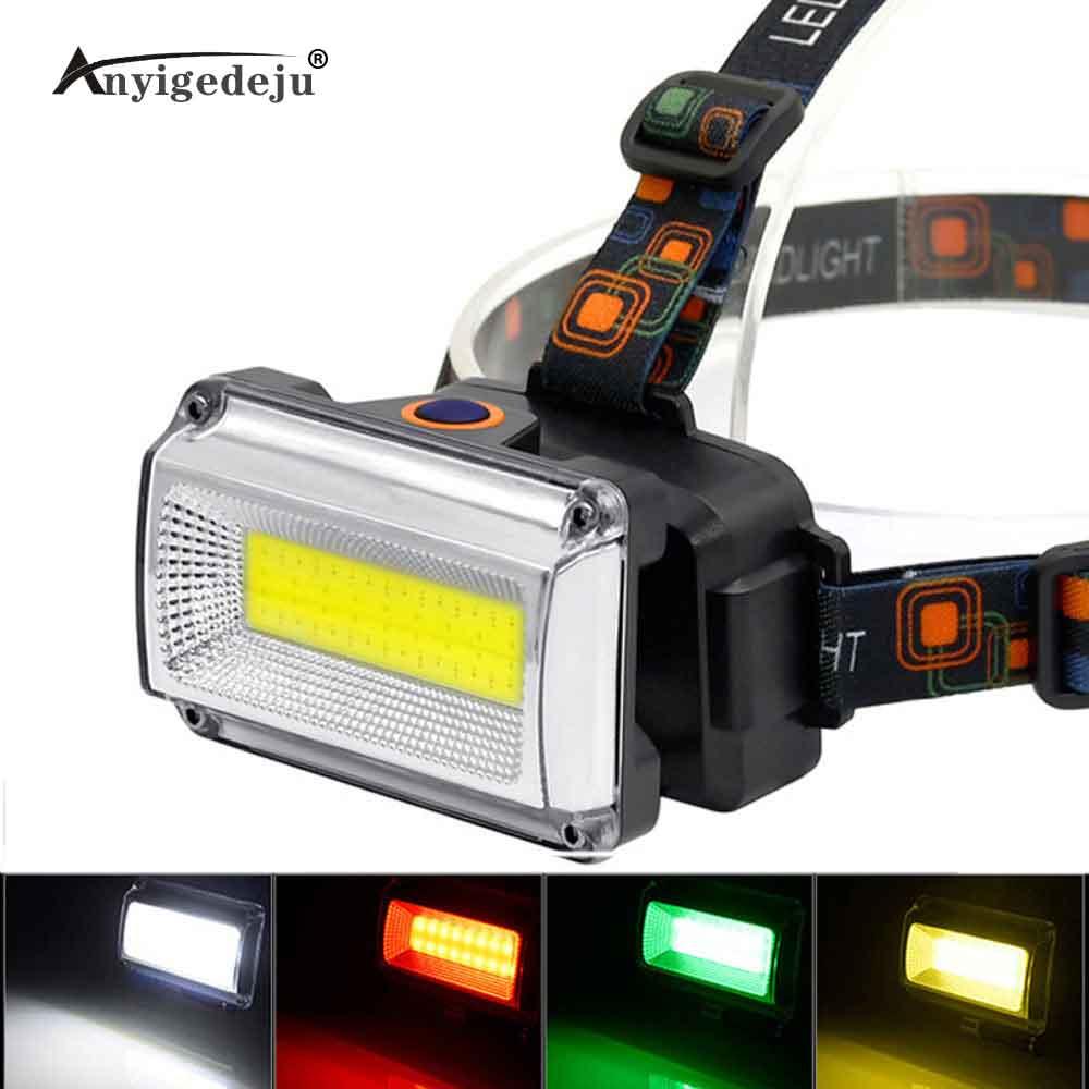 20W LED COB USB Rechargeable 18650 Headlamp Headlight Fishing Flashlight Torch