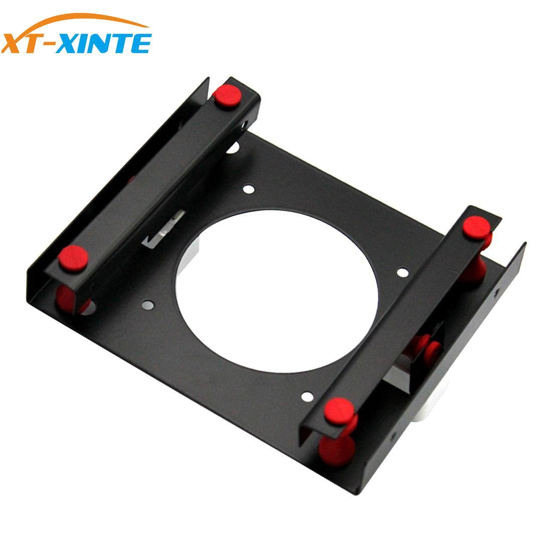 XT-XINTE Hard Disk Shock Absorber Bracket HDD SSD Converter Bracket Converts 3.5 To 5.25 Inch Hard Drive Bay Mounting Bracket
