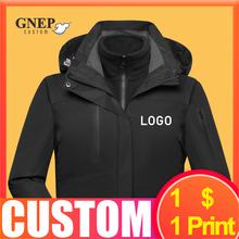 Зимняя теплая куртка на заказ, модный костюм с капюшоном для альпинизма, Уличная Повседневная Толстовка, дешевый принт логотипа Gnep2020, новин...