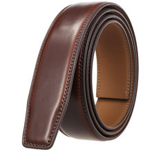 Nieuwe Luxe Geen Gesp Riem Merk Riem Mannen Hoge Kwaliteit Mannelijke Echt Echt Lederen 3.cm Band Forjeans Mannen Riem g31-3691