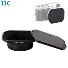 Kare Metal kamera Lens Hood Fujifilm X100V X70 X100 X100S X100T X100F koruyucu adaptör halkası uyumlu 49mm filtre kap