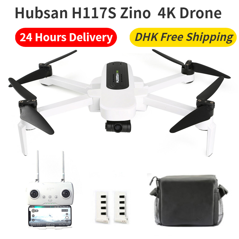 Hubsan H117S Zino GPS Drone 4K 1KM 5G Wifi FPV UHD 4K Camera 3-Axis Gimbal Aerial Photography Brushless Foldable RC Quadcopter