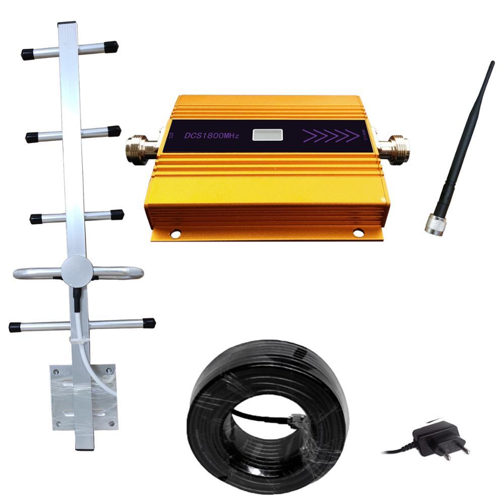3G 4G LTE DCS 1800 mhz amplificateur de téléphone mobile 1800MHZ répéteur de Signal amplificateur de téléphone cellulaire réseau 65dB Gain affichage LCD
