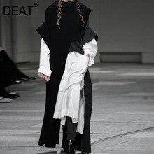 2020 WI32101 DEAT 秋冬新ファッショントレンド服長袖無地高襟ルース不規則なセーター