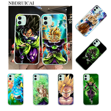 Nbdruicai Dragon Ball Super Broly Coque Shell Telefoon Case Voor Iphone 11 Pro Xs Max 8 7 6 6S plus X 5S Se Xr Cover(China)