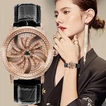 Nuevo reloj creativo KCHKE para mujer, correa de cuero, reloj para correr, reloj de cuarzo sencillo y romántico para mujer