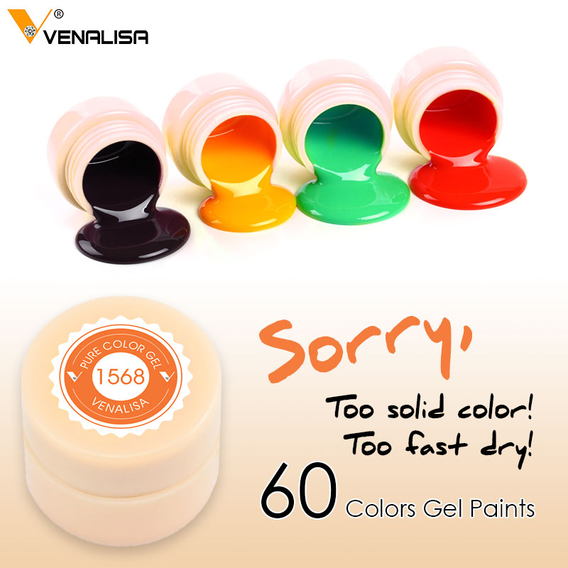 2020 Venalisa Nail Art Tips Design Professional Nail Cosmetic Manicure 60 Colors Uv Led Soak Off Paint Nail Polish Lacquer Gels