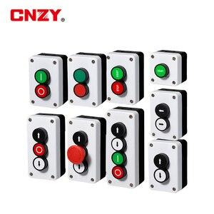 Düğme anahtarı güç kontrol kutusu acil durdurma start stop 22mm su geçirmez yüzeye monte kendinden kilitleme kendini sıfırlama göstergesi