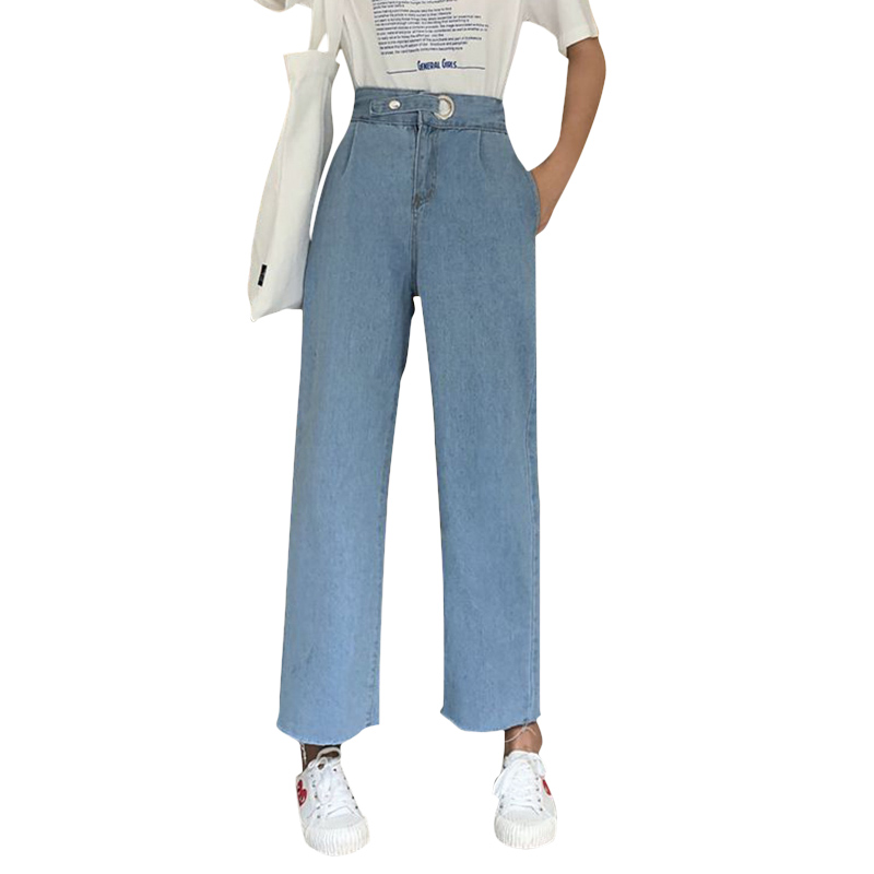 Cheap Wholesale 2019 New Spring Summer Autumn Hot Selling Women's Fashion Netred Casual  Denim Pants FP9166