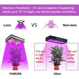 Image 2 - Famurs ışık büyümeye yol açtı 800W/1500W/2000W/3000W tam spektrum reflektör üçlü çip Veg Bloom kapalı bitkiler için büyümek çadır bitki led