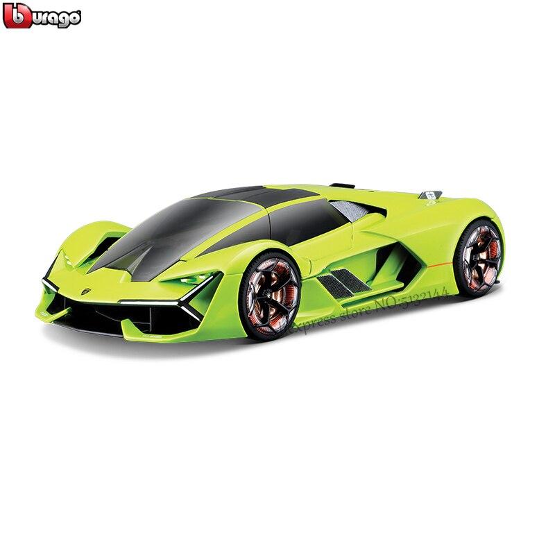 Bburago 1:24 Lamborghini Third Age Concept Terzo Millennio Car Gift Simulation Alloy Car Collection Toy Green